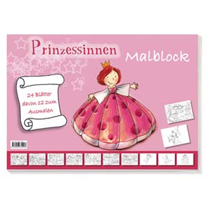 Prinzessinnen Malblock